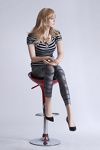 realistic sitting female mannequin with pedestal model Liz