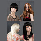 various color male wigs female wigs